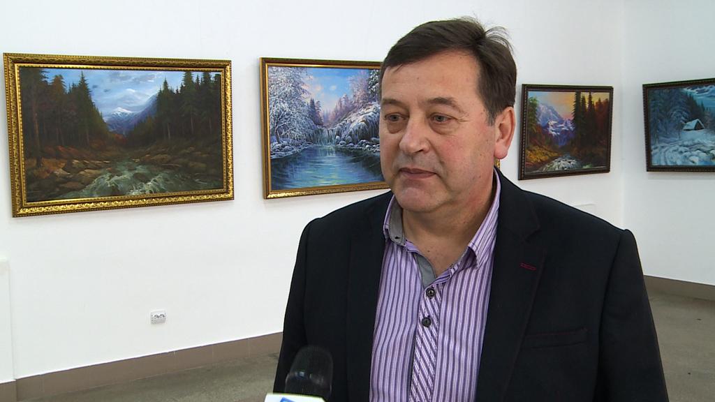 Коломийський художник Володимир Бойків презентував свої роботи в обласному центрі (відео)
